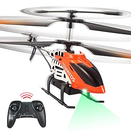 VATOS RC Hubschrauber 22 Minuten Fliegen Ferngesteuerter Hubschrauber 2,4 GHz & 3,5 Kanäle mit LED-Licht Mini Hubschrauber für Kinder Erwachsene Innen Bestes Hubschrauber Spielzeug Geburtstag Geschenk