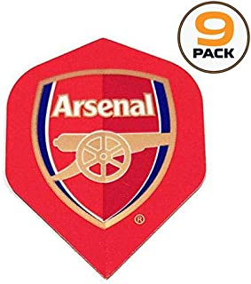 Art Attack 9 Pack Arsenal Soccer Football Premier League 75 Micron Strong Dart Flights