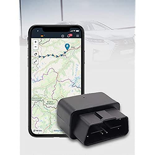 SALIND GPS Tracker Auto, Fahrzeuge und LKWs OBD2 Stecker - Peilsender Auto mit Ortung - Diebstahlschutz für Fahrzeuge- Online weltweit Echtzeit Tracking mit App (für IOS und Android)