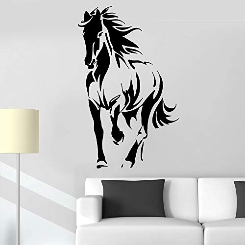 BFMBCH Pferd Silhouette Tier Wandaufkleber Mähne Pony Stute Firma Schlafzimmer Wohnkultur Wohnzimmer Vinyl Wandaufkleber A1 35x57cm