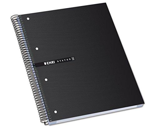 Enri Status - Pack de 5 cuadernos espiral microperforados, tapa extradura, A4+