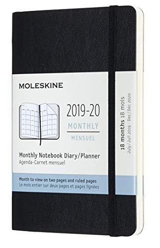 Moleskine - Agenda Mensual de 18 Meses 2019/2020, Calendario...
