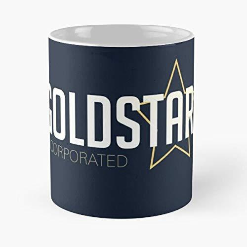Goldstar Incorporated - Taza de café de cerámica de mármol blanco