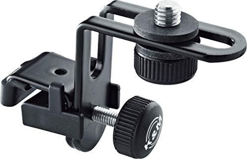 K&M 24030 Clip de micrófono para batería, negro