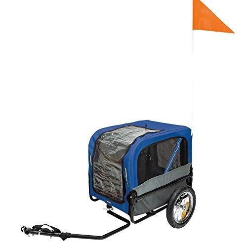 Schecker Fahrradanhänger Pet Traveler Gr. S - 115 x 59 x 86 cm Farbe Blau sehr handlich und leicht enthält einen Regenschutz Hundeanhänger