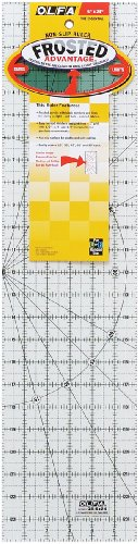 """Olfa Frosted Advantage 6"""" x 24"""" Quilting Ruler - The Essential"""