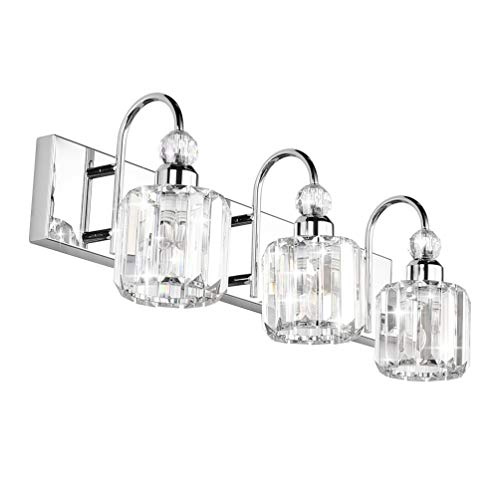 Ralbay Modern LED Crystal Bathroom Vanity Lights 3-Lights...