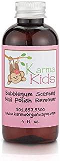 Karma Organic Kids Bubblegum Scented Nontoxic Natural Nail Polish Remover (4 fluid ounce)