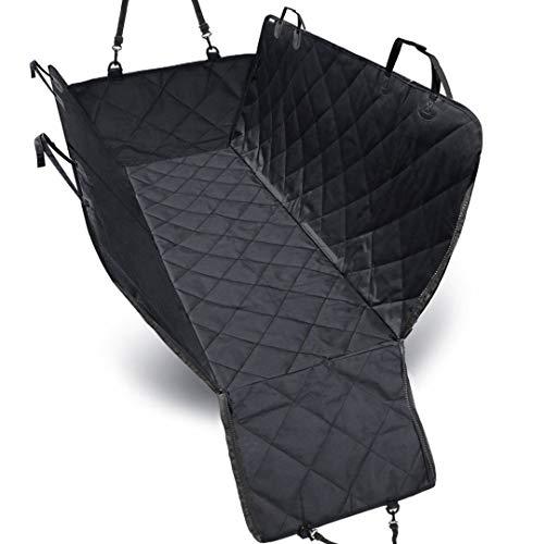 SunHorde SWater Proof Hond Auto Stoel, Nonslip Achterzijde Huisdier Stoel Cover Hangmat voor Auto's, Vrachtwagens, Suv's met Zijflits (54 x 56 inch)- Blac