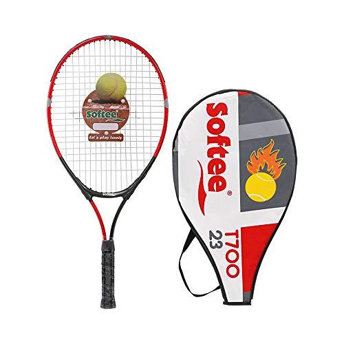 Softee 0006552 Raqueta encordada, Unisex Adulto, Rojo/Gris/Blanco, 23