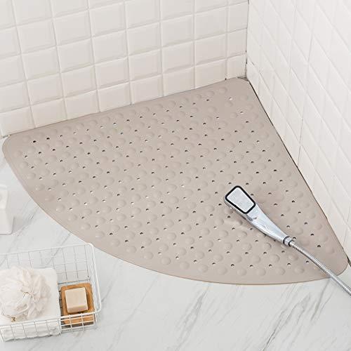 Alfombra de ducha de esquina Alfombrilla de ducha grande en forma de...
