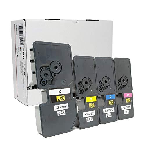 OBV kompatibler Toner als Ersatz für Kyocera TK-5230 K/C/M/Y für Kyocera Ecosys M5521cdn M5521cdw P5021 P5021cdn P5021cdw P5021 / M5521 Series schwarz, Cyan, Magenta, gelb