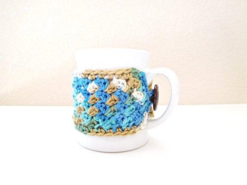 crochet coffee cup cozy - 6