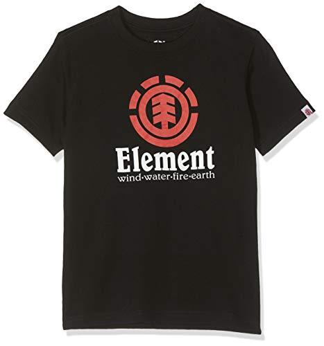 Element Vertical Boy, Maglietta Bambino, Nero (Flint Black 3732), 8