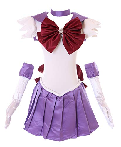 Kawaii-Story H-6009 Saturn Crystal Sailor Moon blau lila Cosplay Kleid Handschuhe Set Dress Kostüm Costume (S)