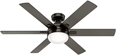 """Hunter Fan Company 50707 Hardaway Indoor Ceiling Fan with LED Light and Remote Control, 52"""", Bronze"""