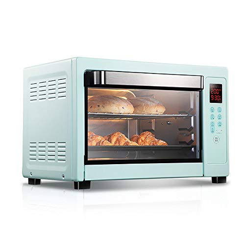 QJJML 40L 1800W Small Home Oven, Pizza Oven,Large Capacity, 360 ° Rotating Roast Chicken,Precise Timing And Precise Temperature Control Can Help You Prepare Delicious Food And Save Time