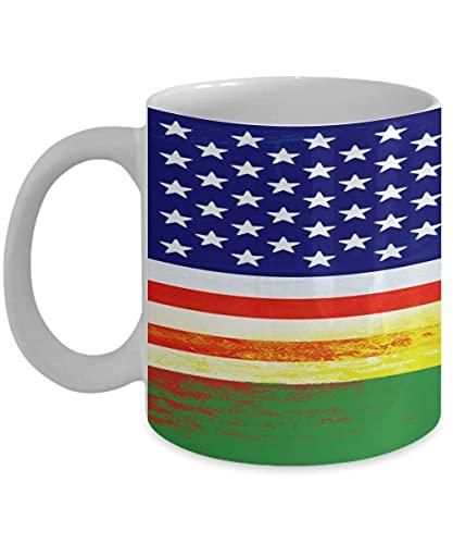 N\A USA Ruanda Flagge Ruanda 11oz weiße Kaffeetasse Teetasse