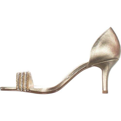 Caparros Womens Fancy Open Toe Classic Pumps Platino Metallic Size 9.0 M US