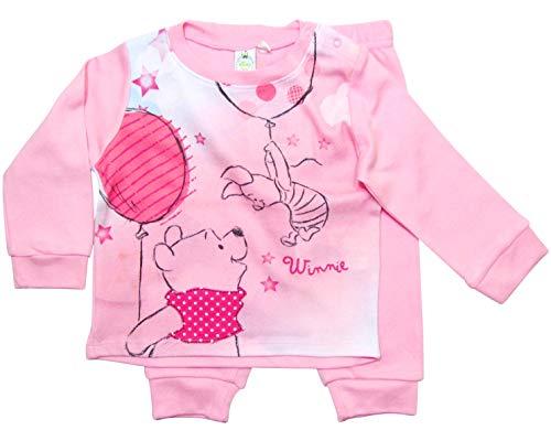 Winnie the Pooh Schlafanzug Mädchen Disney (Rosa, 86-92)