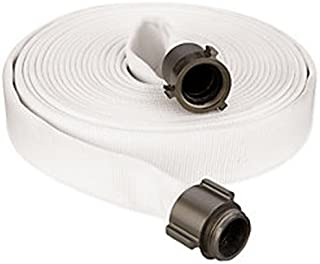 Key Fire Double Jacket Fire Hose, White, 1-1/2
