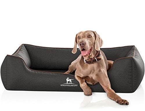 Knuffelwuff Orthopädisches Hundebett Amelie Hundekorb Hundesofa Hundekissen Hundekörbchen waschbar XL 105 x 75cm Schwarz