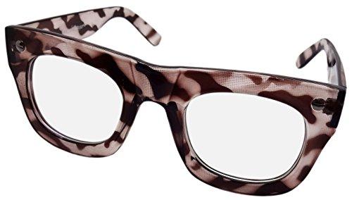 NEW Grand Transparent Objectif Lunettes de geek Fancy Dress Rétro écaille de tortue CL4