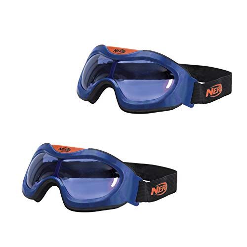 NERF Elite Goggles, Transparent/Clear Impact-Resistant Tactical Eyewear, for use Blaster - Stay Prepared & Protected for Battle - One Size Fits All