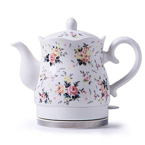 TAOKE Bouilloire sans Fil en céramique électrique Teapot-rétro 1.5L Jug, 1350W Eau Rapide for Le thé, café, Soupe Rapide (Couleur: A) 8bayfa (Color : A)