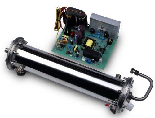 Gowe Générateur d'ozone Cellule avec tube double, OZONE émaillé, refroidissement à eau, pour utilisation industrielle, 10 g