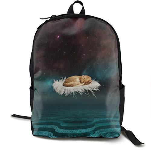 Unisex Classic Cat Photoshop Feder-Rucksack für Reisen, Camping, Outdoor, Laptop, Tagesrucksack