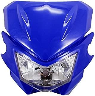 Universal Motorcycle Headlight Fairing Kit For Honda Kawasaki Yamaha Suzuki Street bike Dirt bike Dual Sport bike Cruiser Bobber Chopper Touring Atv Scooter Offroad (blue)