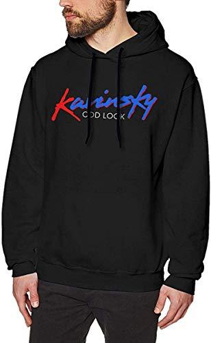 Pzrruot Mannen Fleece Pullover Hoodie Print Kavinsky Odd Look Logo Sweatshirts