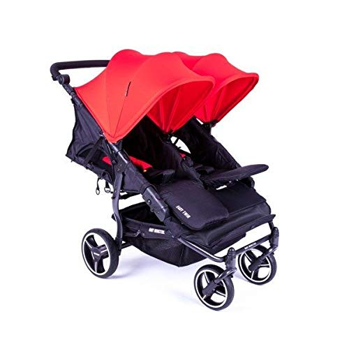 Baby Monsters Easy Twin 3S - Cochecito doble reversible, color rojo