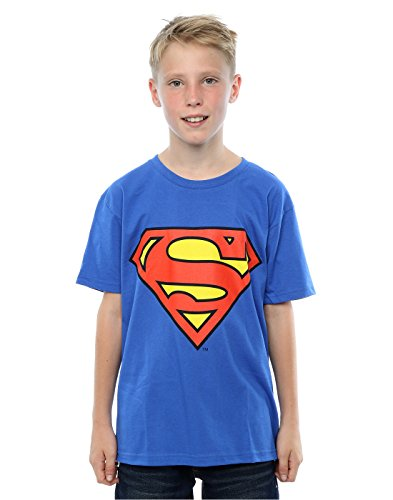 DC Comics Boys Superman Logo T-Shirt 9-11 Years Royal Blue