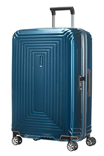 Samsonite Neopulse Spinner M Valigia, 69 cm, 74 L, Blu (Metallic Blue)