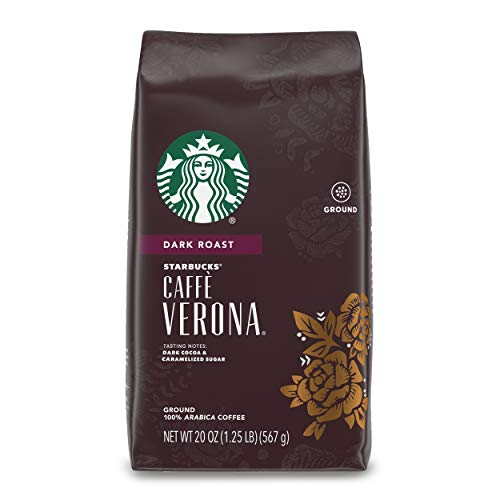 Starbucks Dark Roast Ground Coffee — Caffè Verona — 100% Arabica — 1 bag (20 oz.)