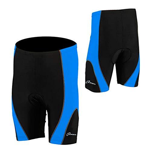 Pantaloncini da ciclismo per uomo Coolmax Anti-Bac Imbottiti Nuovo Ciclo Leggero Corto Bicicletta - Nuovo (Blu/Nero, SMALL)