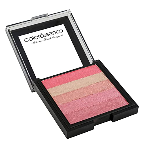 COLORESSENCE Shimmer Brick Compact Multi-Purpose Pearl Pigmented Highlighter and Blusher...