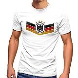 MoonWorks® Camiseta de fútbol de Alemania Eurocopa 2021, bandera de Alemania con escudo de águila, Alemania blanco., M
