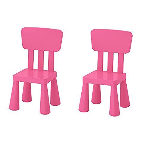 Ikea Mammut - Silla infantil infantil para interiores y exteriores, color rosa, 2 unidades