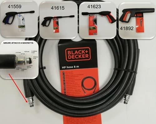 BLACK&DECKER TUBO PER IDROPULITRICE 8MT RICAMBI ACCESSORI 8 MT RICAMBIO 46399