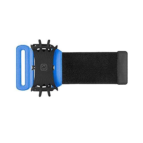 Soporte de teléfono para mujeres y hombres azul PU compatible para teléfono móvil de 4-6 pulgadas