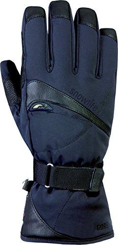 Snowlife Skihandschuhe Snowboardhandschuhe Herren mit echtem Leder, Gore-TEX Membrane und Soft Shell besonders atmungsaktiv ideal für Wintersport Expander GTX Glove, schwarz, M/XL