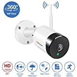 5MP WiFi Wireless Security Camera Outdoor, <span class='highlight'><span class='highlight'>Jennov</span></span> 2 Way Audio Panoramic Wide Viewing Home Surveillance WiFi IP Camera With 32G SD Card Motion Detection Night Vision