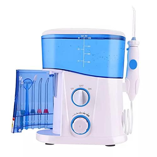 Irrigador Oral Dental, Hilo Dental, Limpiador De Dientes, Con 7 Niveles Multifuncionales, 1000 Ml, 10 Niveles De Presión, Para Dientes, Tirantes, Familia