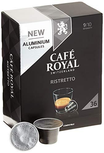 Café Royal Ristretto 36 Nespresso®* kompatible Kapseln (aus Aluminium, Intensität 9/10)