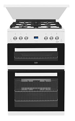 Beko EDG6L33W 60cm White Double Oven Gas Cooker