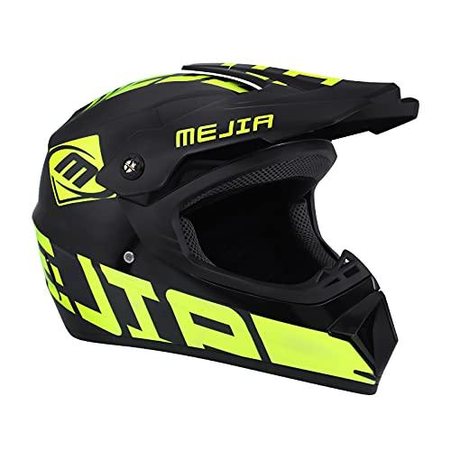 Ambienceo Ambienceo Motocross Helm Grün, Adult Off Road Helm Unisex Motorradhelm Cross Helme Schutzhelm ATV Helm für Männer Damen Unisex Sicherheit Schutz(M)