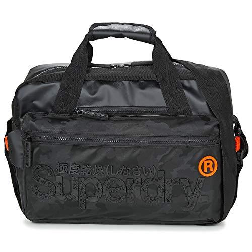 Superdry Mens FREELOADER LAPTOP BAG Y4-Shoulder, Black Camo, OS
